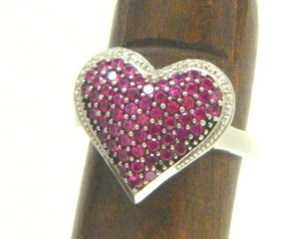 Vintage Ruby Sterling Ring SS 925 Start with F inside Size 6