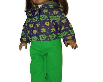 Jogging Warm-Up Outfit fits American girl dolls 18 inch doll clothes Item 456