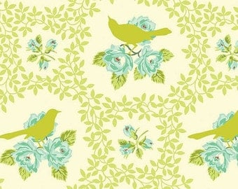 SALE Mockingbird in Chartreuse from Heather Bailey Up Parasol 1 yard