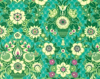 SALE Violette by Amy Butler Floral Damask in grass 1 yard