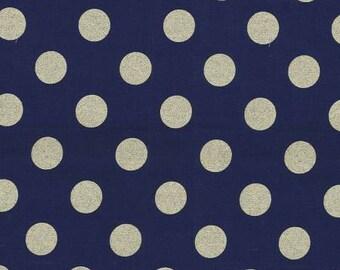 Glitz in Twinkle Metallic quarter dot from Michael Miller 1 yard