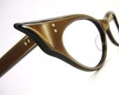 Vintage Winged Cats Eye Eyeglasses Sunglasses Frame France