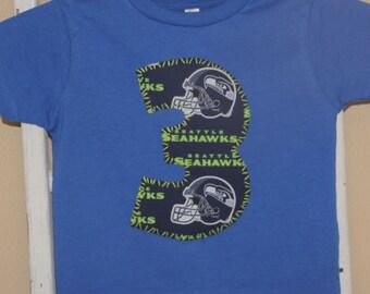 SEATTLE SEAHAWKS 3 party shirt ... boys 3rd birthday