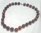 Old German Marble Butterscotch Bakelite Beads 12MM