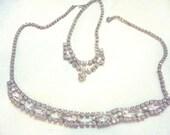 2 Rhinestone Necklace's Circa 1950