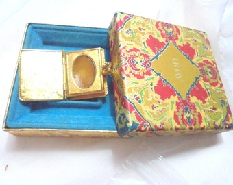 1971 Vintage Avon Solid Perfume Book Compact in Original Box