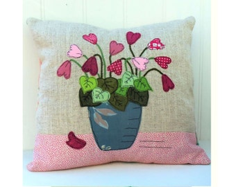 Blooming Lovely Cushion (Pillow) Cover downloadable pdf pattern