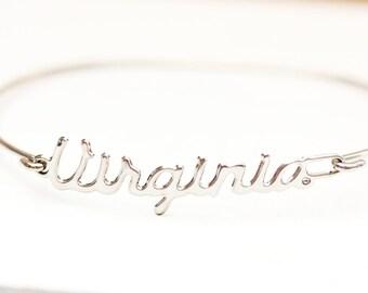 Vintage Name Bracelet - Virginia
