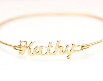 Vintage Name Bracelet - Kathy