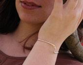 "Sterling Silver Cuff Bracelet Item #200101 - ""Silver Wave Cuff"""
