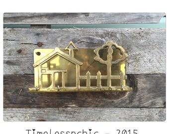 Wall Mail Organizer - Mail Holder - Mail Organizer - Brass Key Holder - Key Rack - Housewarming Gift - CHIC