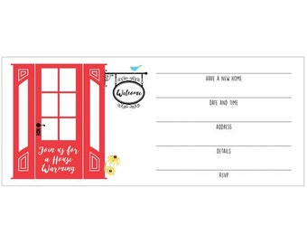 House Warming Fill-in Invitations 10 pack
