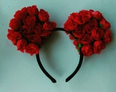 Red Rose Minnie Ears