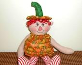 Pumpkin Annie cloth doll