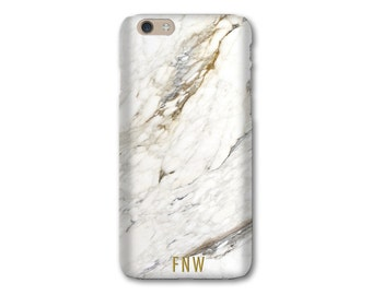 Personalized Gift Phone Case, iPhone 7 Plus Case Monogram iPhone 6S Case, Marble iPhone 8, White Marble iPhone Case, iPhone X Case, SE, 6S