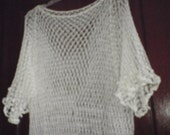 Netted White Cover Up Over Your Bathing Suit For Young Women