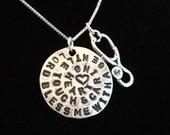 Nurse's Prayer Necklace, Nurse Necklace, Stethoscope Necklace, Nurse graduation gift, Nurse gift, Nurse charm necklace