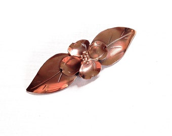 Vintage NYE  Copper Dogwood Brooch