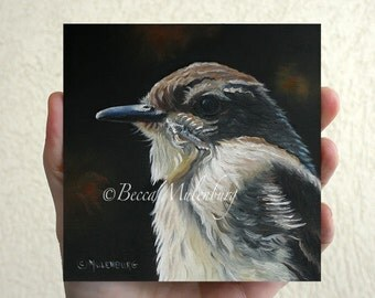 Eastern Phoebe Original bird art oil painting wildlife nature