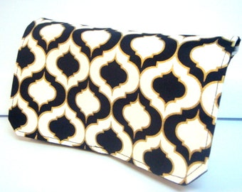 Coupon Organizer Wallet / Budget Organizer Holder- Attaches to your Shopping Cart -  Black and Gold Flynn