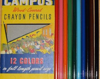 vintage  coloring  CRAYON PENCILS school art venus velvet