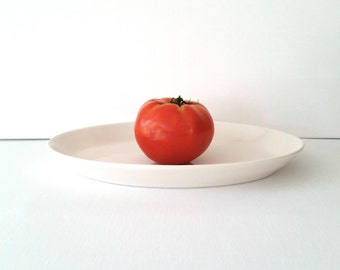 White Antique Platter . Vintage Modern Syracuse China .  Restaurant Ware . Serving Plate . Two Platters Available