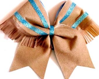 Pocahontas Native American  Cheer Hair Bow                   Can customize!.