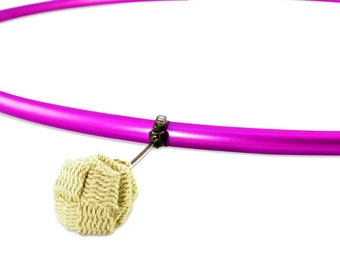 Fire Hula Hoop   5 Wicks   Colored Polypro Tubing