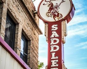 Sign - Wyoming Sign - Wyoming - Saddle - Saddlery - Saddlery Sign - Fine Art Photography