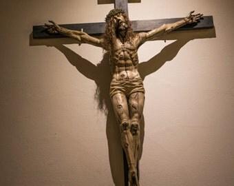 Cross - Christian - Catholic - Jesus - Jesus on the Cross - Crucifix - Shadow - Fine Art Photography