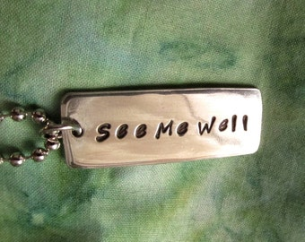 See Me Well - Hammered Precious Metal Necklace Dark Tower Gunslinger Tribute