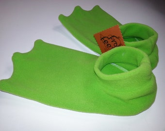 Adult Size Frog Feet Slippers NOW in LIME GREEN!