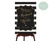 PRINTABLE Large Custom Wedding Sign Printable // Welcome Wedding Sign // Wedding sign // DIGITAL