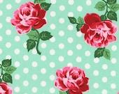 Michael Miller Fabric Retro Florals Lucy Aqua