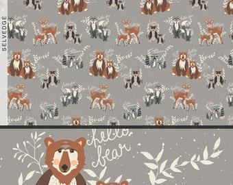 Hello Bear Oh Hello Fog Art Gallery Fabric