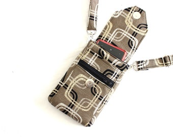 cell phone purse - cell phone pouch - cell phone bag - mobile phone bag - small crossbody bag - iphone 6 plus crossbody purse MADE to ORDER