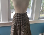 Vintage 1960s Plaid Mad Men-Style Skirt