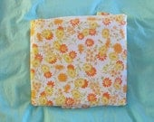 80s vintage Floral Sheet Flat Sheet Double FULL Percale JC Penny Daisy Flower Abstract NEW