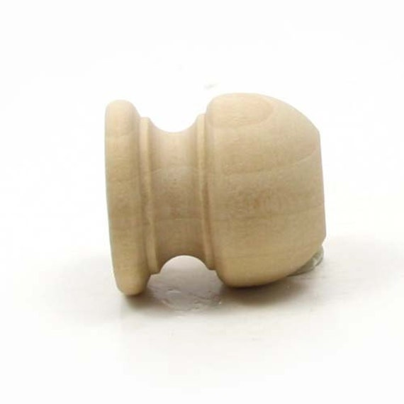 Unfinished wood finial dowel cap end inch