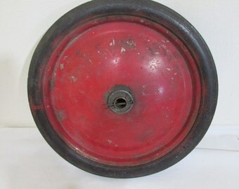 Metal Wheel Old Red Wagon 10 Inch Tire
