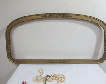 Antique Picture Frame Long and Curved Top