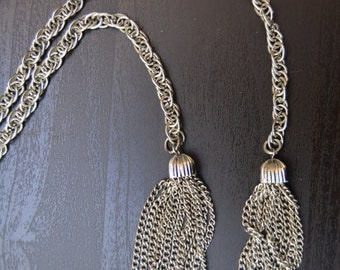 Vintage 'Scarf Necklace' and Chain Set