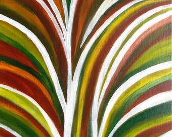 """Autumn Abstract Painting, """"Spirit of the Trees 8"""", Acrylic 9x12 Canvas Wall Art, Modern Home Decor by Jessica Torrant"""