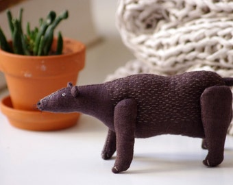 Brown bear. Soft sculpture.