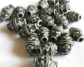 Ox Bone beads, brown  17 X 12mm  16 pc