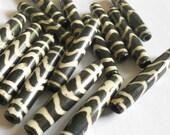 Bone tube beads, 12pc 1 inch long 36mm
