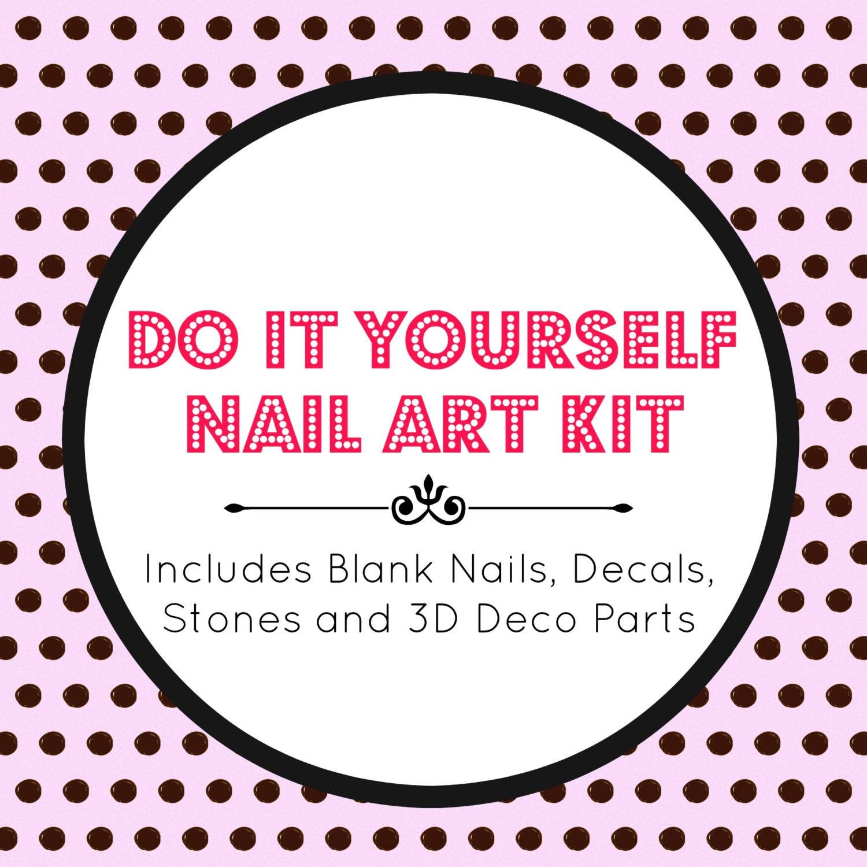 DIY Nail Art Kit Nail Art Fake False Press On Nails Make Your - Make your own decal kit