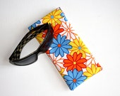 Padded Sunglass Pouch in Bright Colourful Floral Fabric