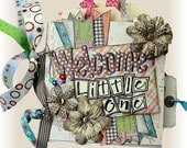 DIY Mini Album, Scrapbook Kit, Baby Book, Baby Shower Gift, Infant Baby book, Pregnancy album, First Year Album, Girl or Boy Baby Scrapbook