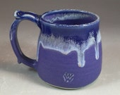 Blue Wheel Thrown Mug